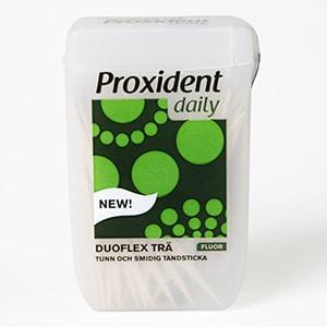 Proxident Duoflex kahepoolsed puidust hambatikud fluoriidiga