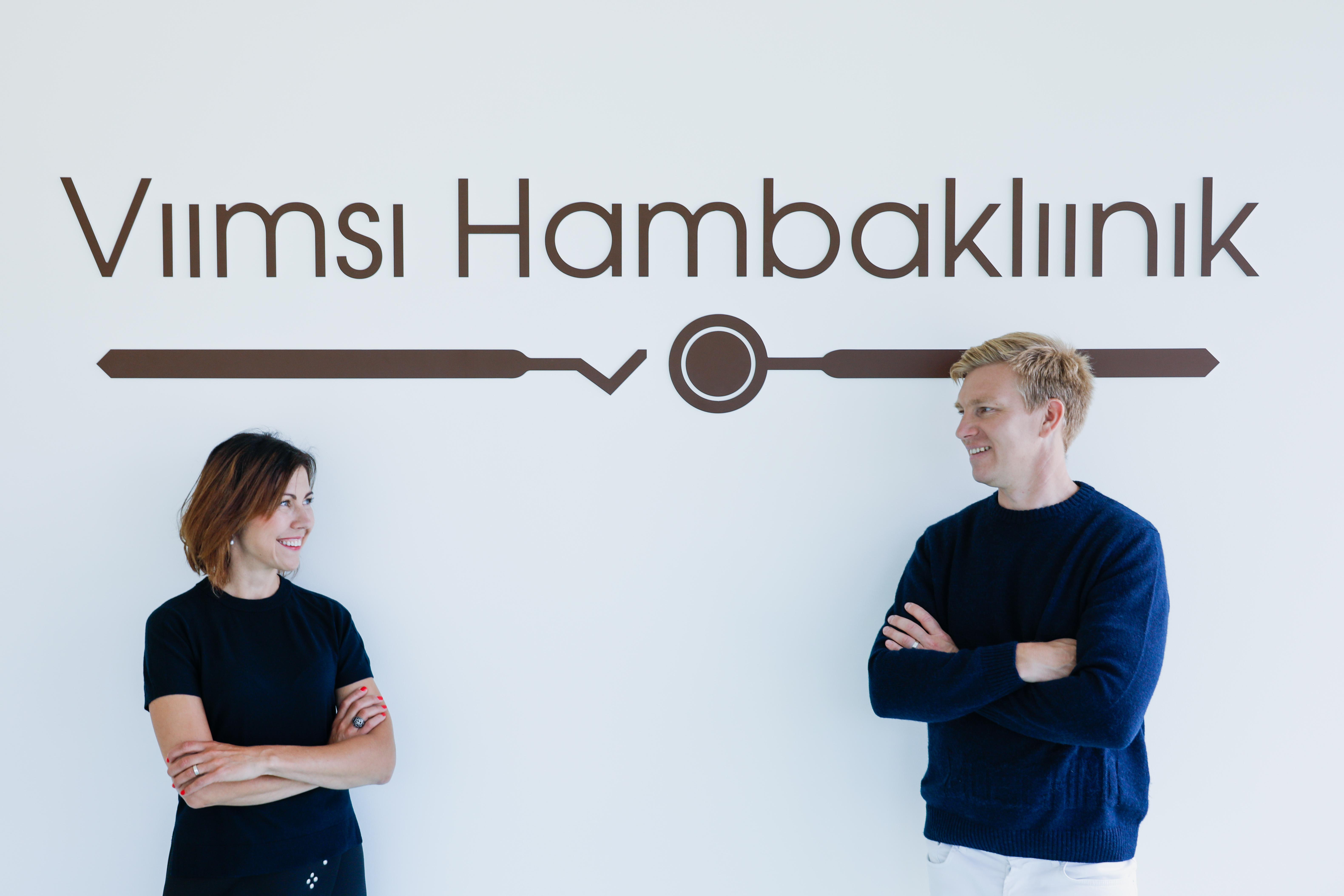 Jaanika Lauk ja Martin Lauk Viimsi Hambakliinikus